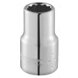 "BRITOOL EXPERT E113742B 1/4"" 12 POINT STANDARD SOCKET - 1/4"