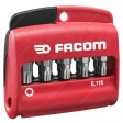 "FACOM E.116 COMBINED SET OF 10 TORX PLUS® BITS 1/4"" - 25 MM + BIT HOLDER"
